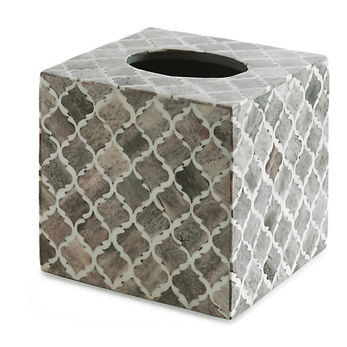 Marrakesh Tissue Box Cover, Gray