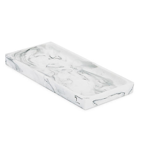 Arabesco Tray, White/Black