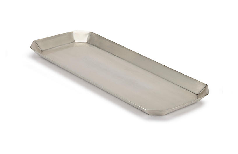 Nomad Tray - Antiqued Silver - Kassatex