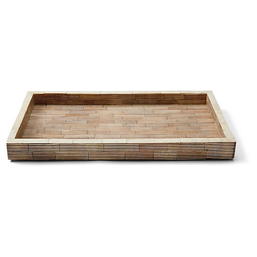 Bali Wide Tray, Neutral