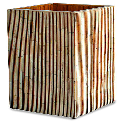 Bali Wastebasket, Neutral