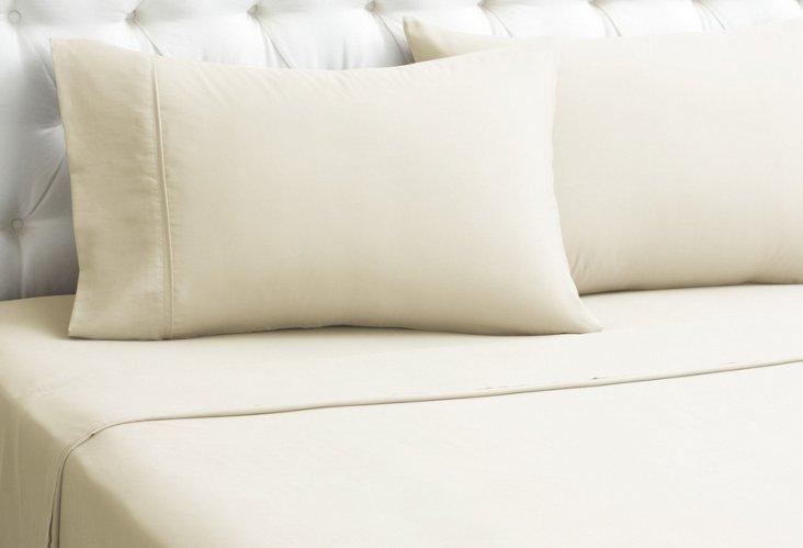Kumi Silk Sheet Set, Crème