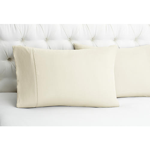 S/2 Kumi Basics Pillowcases, Cream