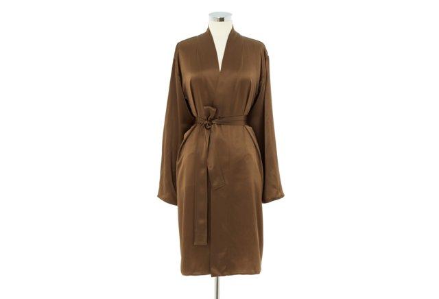 Kumi Short Robe, Antique Bronze/Smoke
