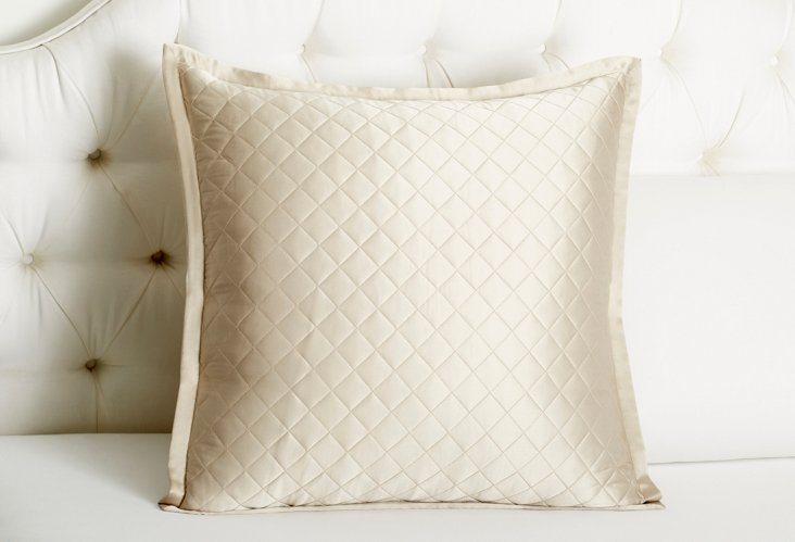 Quilted Euro Sham, Pebble