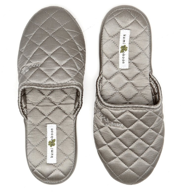 Silk Slippers, Pebble