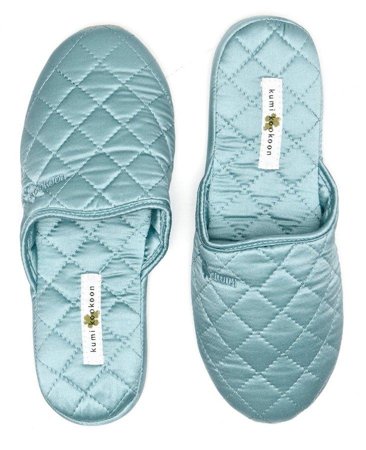 Silk Slippers, Aquamarine