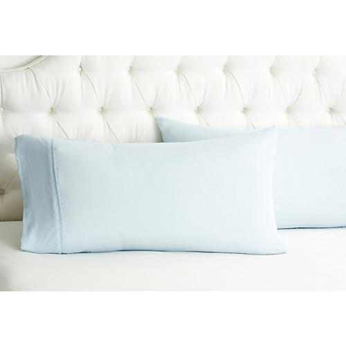 S/2 Kumi Basics Pillowcases, Blue