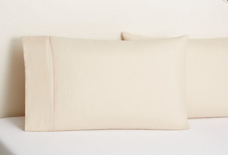 S/2 Pillowcase Set, Sand