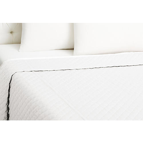 Quilted Coverlet, White