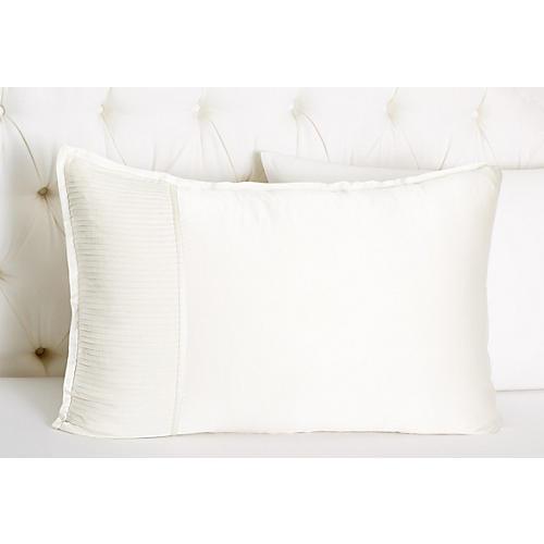 S/2 Chiffon Collection Shams, White