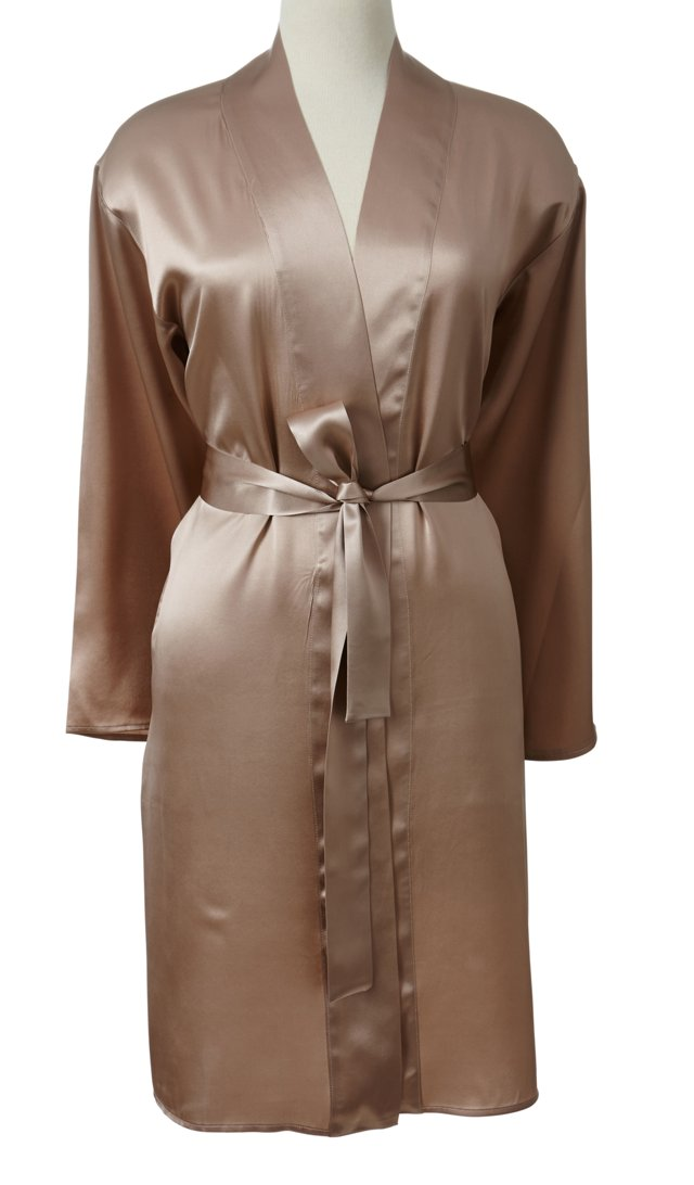 Single-Sided Short Robe, Champagne