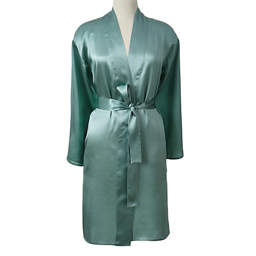 Short Robe, Seafoam