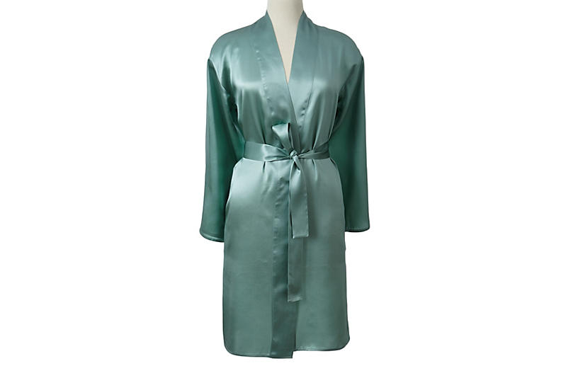 Short Robe, Seafoam