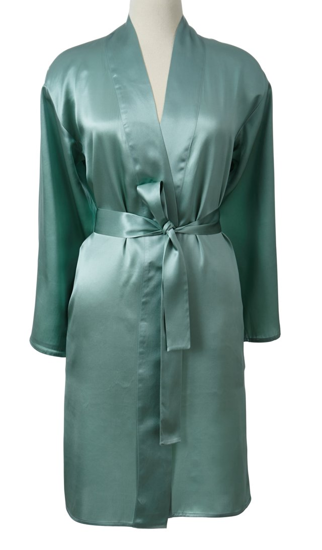 Single-Sided  Short Robe,  Seafoam