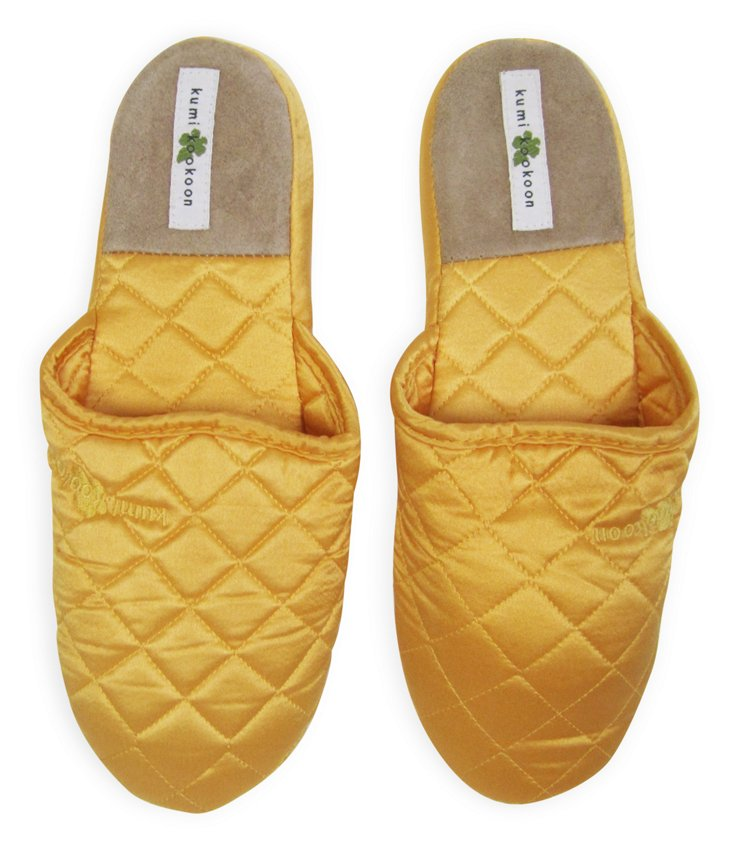 Silk Slippers, Marigold