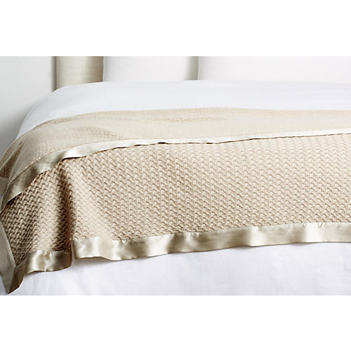 Lattice Cashmere Throw