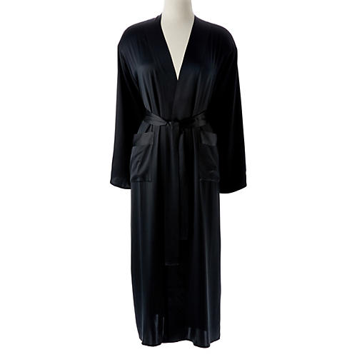 Single-Sided Long Robe, Midnight