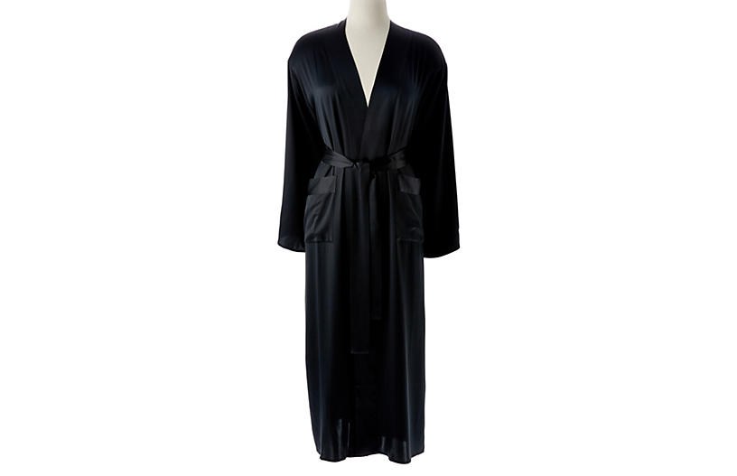 Single-Sided Long Robe, Midnight