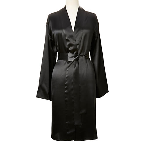 Single-Sided Short Robe, Midnight