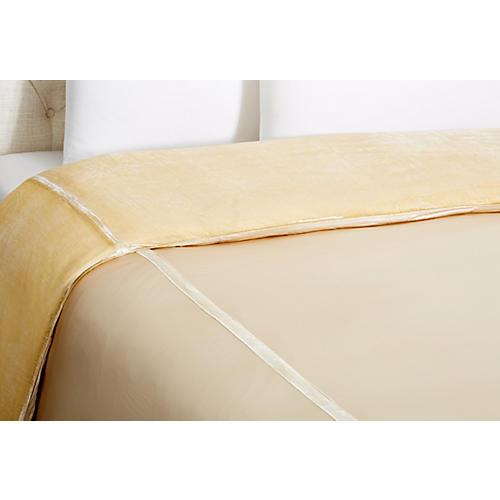 Velvet Duvet Cover, Ivory
