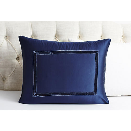 Velvet Collection Sham, Indigo