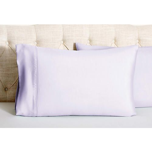 S/2 Kumi Basics Pillowcases, Misty Lilac