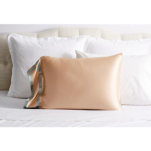 Ming Silk Pillowcase, Sandstone