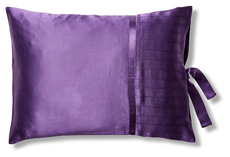 French Pleat Silk Boudoir Sham, Iris