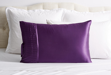 French Pleat Silk Pillow Sham, Iris