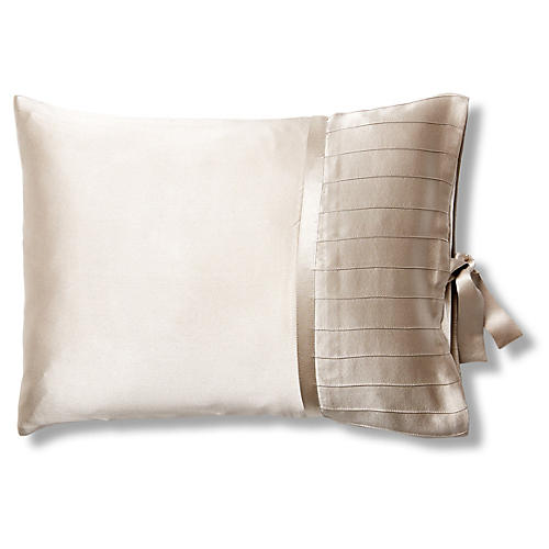 French Pleat Silk Boudoir Pillow Sham