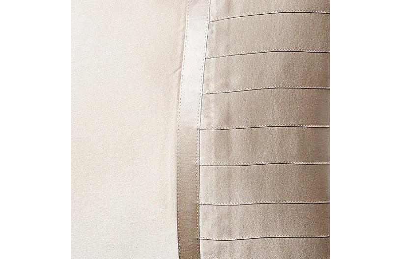 French Pleat Silk Boudoir Pillow Sham Shams Duvet