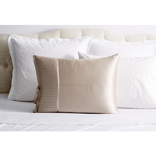 French Pleat Silk Standard Pillow Sham