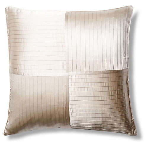 French Pleat Silk Euro Pillow Sham