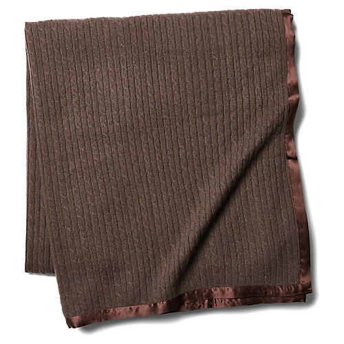 Cashmere Link Throw, Mocha