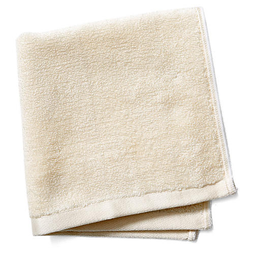 Silk Terry Washcloth, Natural