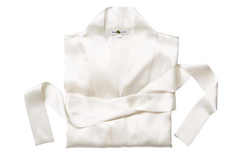 Single-Sided Short Robe, Pearl