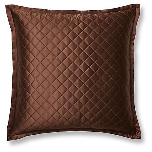 Quilted Euro Sham, Chocolate