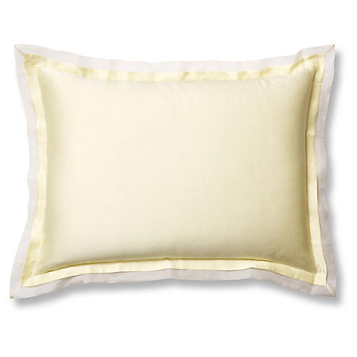 Organza Sham, Lemon/White