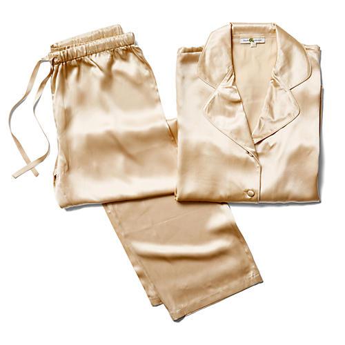 Ashley Silk Pajama Set, Chardonnay