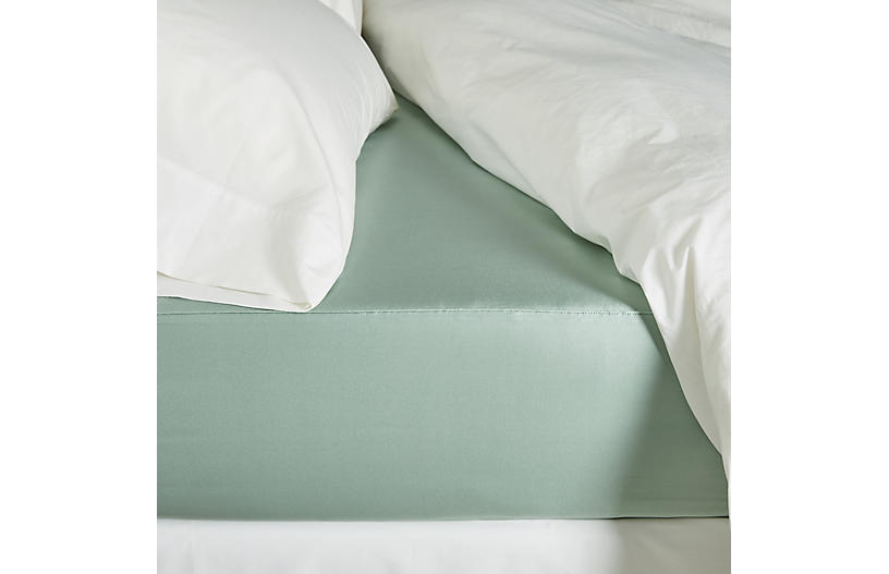 Classic Collection Fitted Sheet, Seafoam