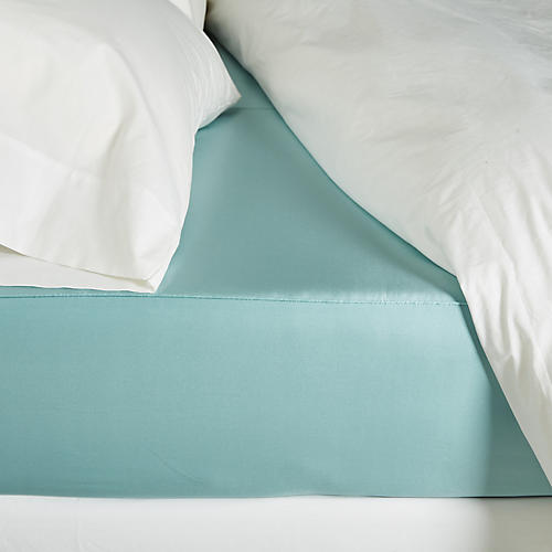 Classic Collection Fitted Sheet, Aquamarine