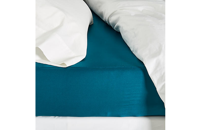Classic Collection Fitted Sheet, Peacock