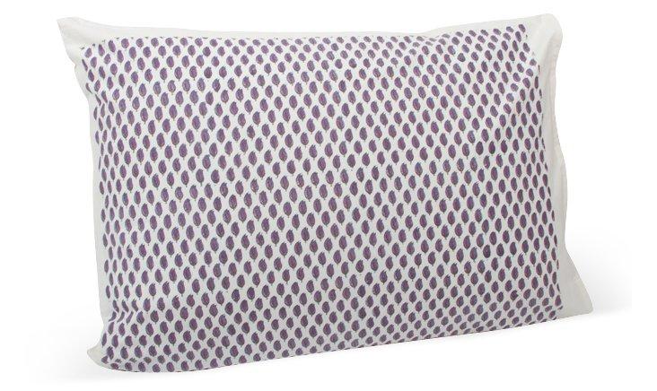 S/2 Std Bouti Samode Pillowcases, Purple