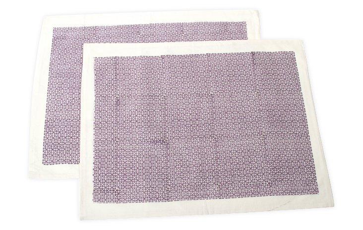 S/2 Std Til Samode Pillowcases, Purple