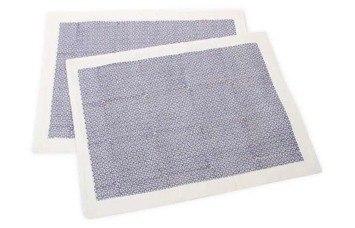 S/2 Std Til Samode Pillowcases, Blue