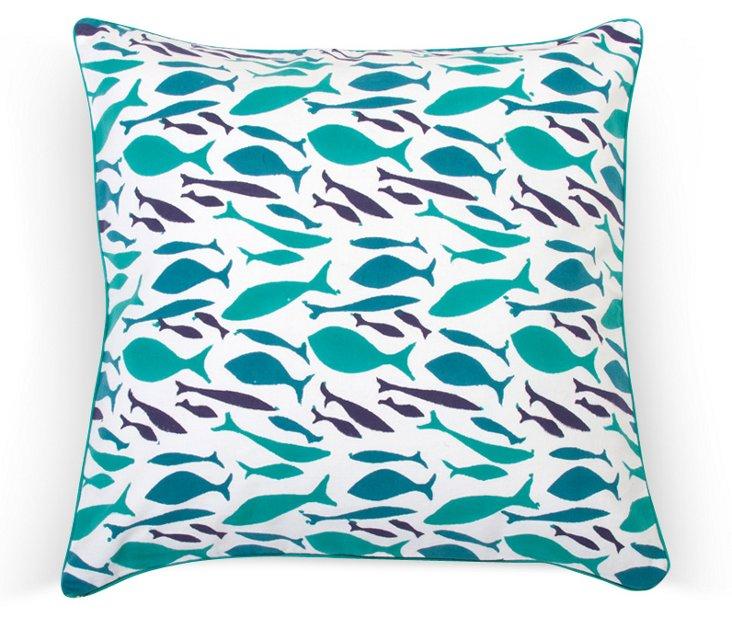 Sardinia Dec Pillow Cover, Teal