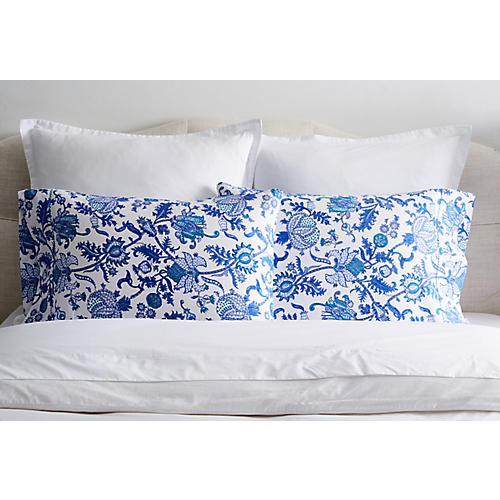 S/2 Amanda Pillowcases, Blue