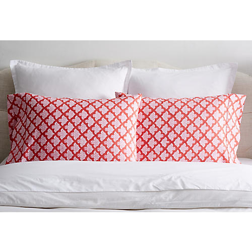 S/2 Jemina Pillowcases, Red