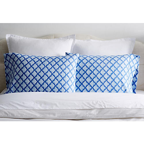 S/2 Jemina Pillowcases, Blue